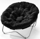 black papasan chair